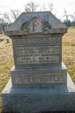 FARRINGTON, ANNA D - Richland County, Ohio | ANNA D FARRINGTON - Ohio Gravestone Photos