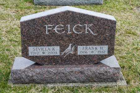 FEICK, FRANK H - Richland County, Ohio | FRANK H FEICK - Ohio Gravestone Photos