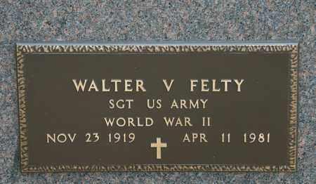 FELTY, WALTER V - Richland County, Ohio   WALTER V FELTY - Ohio Gravestone Photos