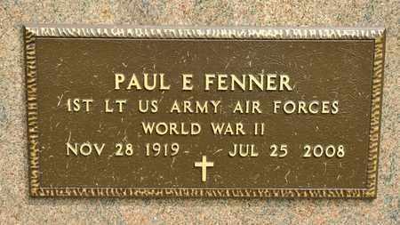 FENNER, PAUL E - Richland County, Ohio   PAUL E FENNER - Ohio Gravestone Photos