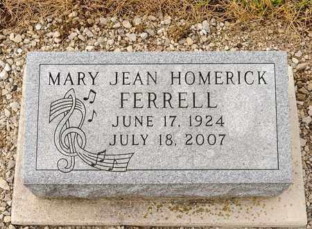 HOMERICK FERRELL, MARY JEAN - Richland County, Ohio | MARY JEAN HOMERICK FERRELL - Ohio Gravestone Photos