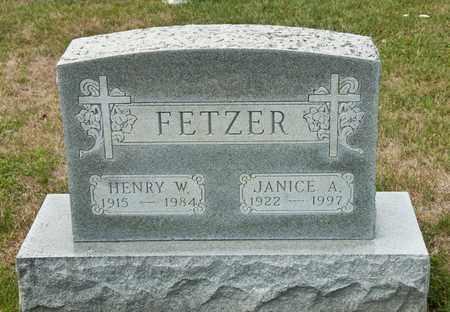 FETZER, HENRY W - Richland County, Ohio | HENRY W FETZER - Ohio Gravestone Photos