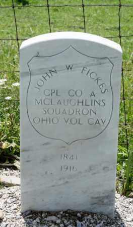 FICKES, JOHN W - Richland County, Ohio | JOHN W FICKES - Ohio Gravestone Photos