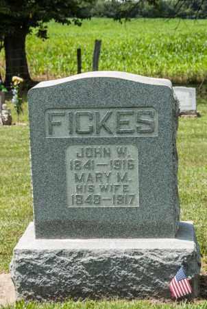 FICKES, MARY M - Richland County, Ohio | MARY M FICKES - Ohio Gravestone Photos