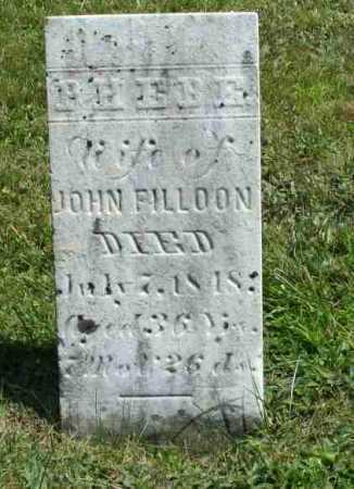 FILLOON, PHEBE - Richland County, Ohio | PHEBE FILLOON - Ohio Gravestone Photos
