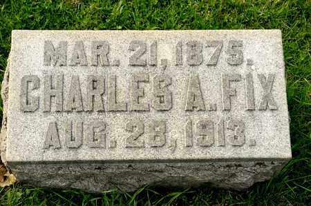 FIX, CHARLES A - Richland County, Ohio | CHARLES A FIX - Ohio Gravestone Photos