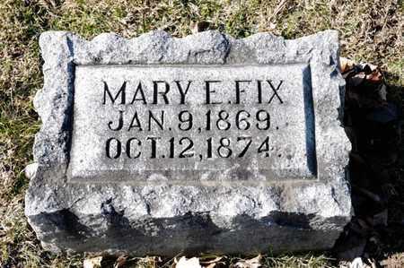 FIX, MARY E - Richland County, Ohio   MARY E FIX - Ohio Gravestone Photos