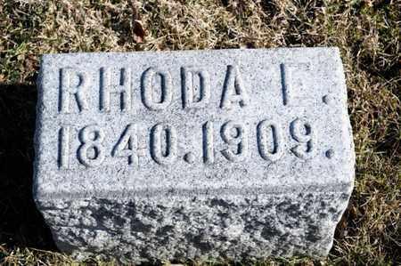 FLASHER, RHODA I - Richland County, Ohio   RHODA I FLASHER - Ohio Gravestone Photos