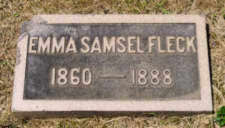SAMSEL FLECK, EMMA - Richland County, Ohio | EMMA SAMSEL FLECK - Ohio Gravestone Photos
