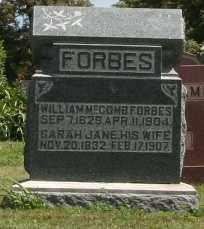 FORBES, WILLIAM MCCOMB - Richland County, Ohio | WILLIAM MCCOMB FORBES - Ohio Gravestone Photos