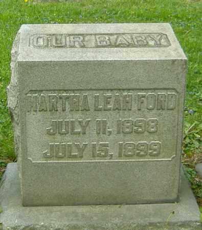 FORD, MARTHA LEAH - Richland County, Ohio | MARTHA LEAH FORD - Ohio Gravestone Photos
