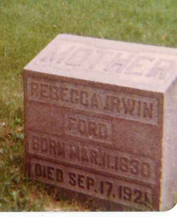 IRWIN FORD, REBECCA - Richland County, Ohio | REBECCA IRWIN FORD - Ohio Gravestone Photos