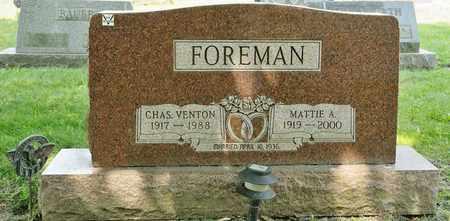 FOREMAN, CHARLES VENTON - Richland County, Ohio | CHARLES VENTON FOREMAN - Ohio Gravestone Photos