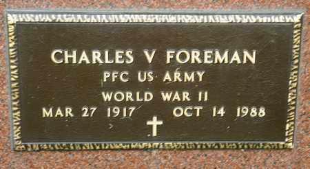 FOREMAN, CHARLES V - Richland County, Ohio   CHARLES V FOREMAN - Ohio Gravestone Photos