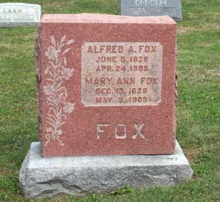 FOX, MARY ANN - Richland County, Ohio | MARY ANN FOX - Ohio Gravestone Photos