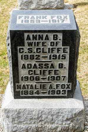 FOX, NATALIE A - Richland County, Ohio | NATALIE A FOX - Ohio Gravestone Photos