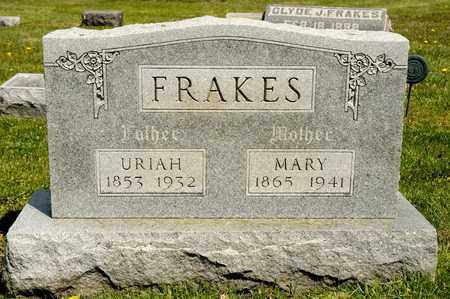 FRAKES, URIAH - Richland County, Ohio | URIAH FRAKES - Ohio Gravestone Photos
