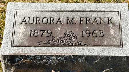 FRANK, AURORA M - Richland County, Ohio   AURORA M FRANK - Ohio Gravestone Photos