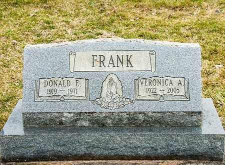 FRANK, VERONICA A - Richland County, Ohio | VERONICA A FRANK - Ohio Gravestone Photos