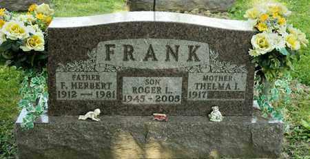 FRANK, F HERBERT - Richland County, Ohio | F HERBERT FRANK - Ohio Gravestone Photos