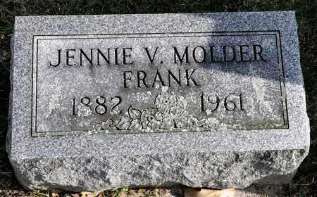 MOLDER FRANK, JENNIE V - Richland County, Ohio | JENNIE V MOLDER FRANK - Ohio Gravestone Photos