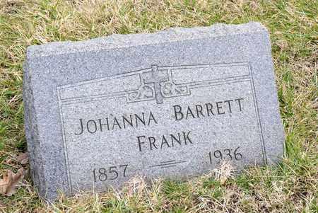 FRANK, JOHANNA - Richland County, Ohio | JOHANNA FRANK - Ohio Gravestone Photos