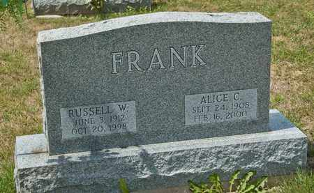 FRANK, ALICE C - Richland County, Ohio | ALICE C FRANK - Ohio Gravestone Photos