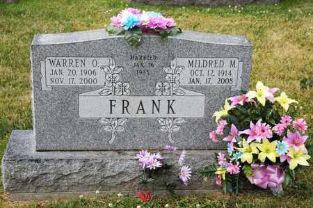 FRANK, WARREN O - Richland County, Ohio   WARREN O FRANK - Ohio Gravestone Photos