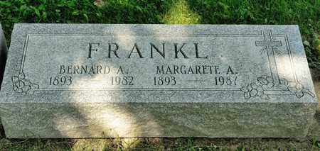 FRANKL, MARGARETE A - Richland County, Ohio | MARGARETE A FRANKL - Ohio Gravestone Photos