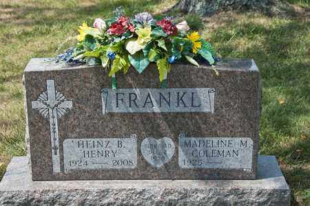 "FRANKL, HEINZ B ""HENRY"" - Richland County, Ohio | HEINZ B ""HENRY"" FRANKL - Ohio Gravestone Photos"