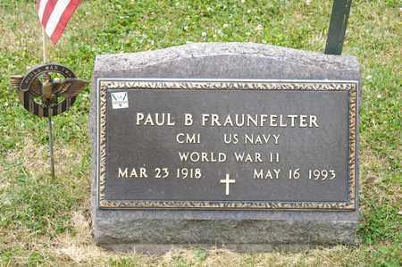 FRAUNFELTER, PAUL B - Richland County, Ohio | PAUL B FRAUNFELTER - Ohio Gravestone Photos