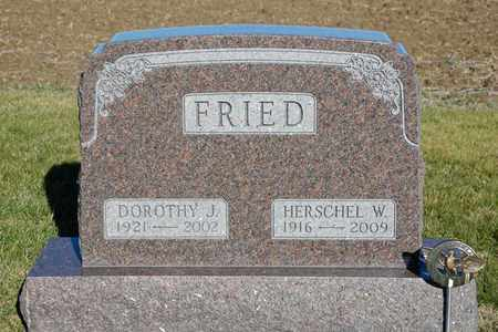 FRIED, HERSCHEL W - Richland County, Ohio | HERSCHEL W FRIED - Ohio Gravestone Photos