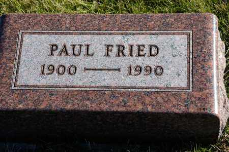 FRIED, PAUL - Richland County, Ohio | PAUL FRIED - Ohio Gravestone Photos
