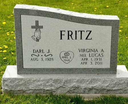 LUCAS FRITZ, VIRGINIA A - Richland County, Ohio   VIRGINIA A LUCAS FRITZ - Ohio Gravestone Photos
