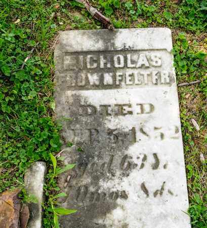 FROWNFELTER, NICHOLAS - Richland County, Ohio | NICHOLAS FROWNFELTER - Ohio Gravestone Photos