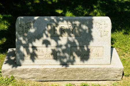 FRY, CARL E - Richland County, Ohio | CARL E FRY - Ohio Gravestone Photos
