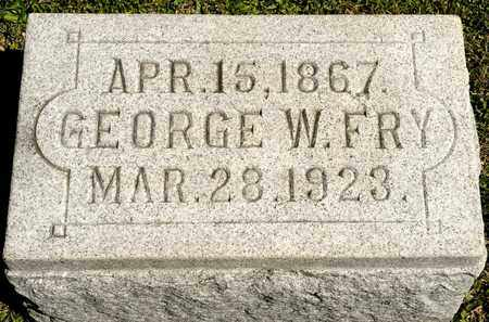 FRY, GEORGE W - Richland County, Ohio   GEORGE W FRY - Ohio Gravestone Photos