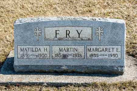 FRY, MATILDA H - Richland County, Ohio | MATILDA H FRY - Ohio Gravestone Photos
