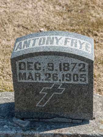 FRYE, ANTONY - Richland County, Ohio   ANTONY FRYE - Ohio Gravestone Photos