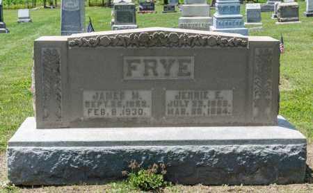 FRYE, JENNIE E - Richland County, Ohio | JENNIE E FRYE - Ohio Gravestone Photos