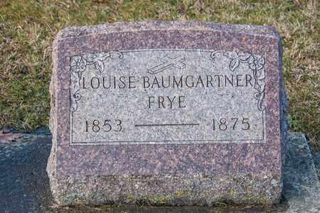 BAUMGARTNER FRYE, LOUISE - Richland County, Ohio | LOUISE BAUMGARTNER FRYE - Ohio Gravestone Photos