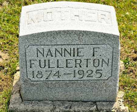 FULLERTON, NANNIE F - Richland County, Ohio | NANNIE F FULLERTON - Ohio Gravestone Photos