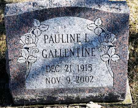 GALLENTINE, PAULINE L - Richland County, Ohio   PAULINE L GALLENTINE - Ohio Gravestone Photos
