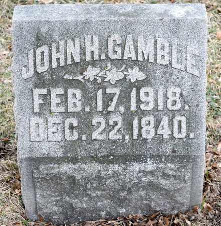 GAMBLE, JOHN H - Richland County, Ohio   JOHN H GAMBLE - Ohio Gravestone Photos