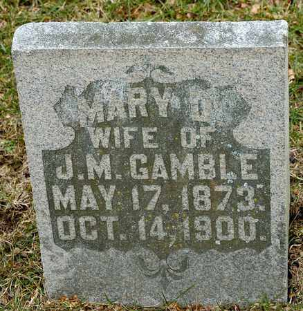GAMBLE, MARY D - Richland County, Ohio | MARY D GAMBLE - Ohio Gravestone Photos