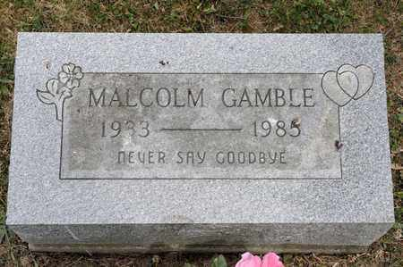GAMBLE, MALCOLM - Richland County, Ohio | MALCOLM GAMBLE - Ohio Gravestone Photos
