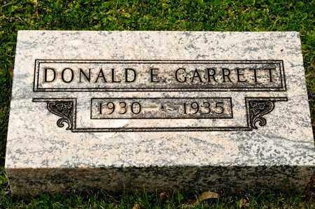 GARRETT, DONALD E - Richland County, Ohio | DONALD E GARRETT - Ohio Gravestone Photos