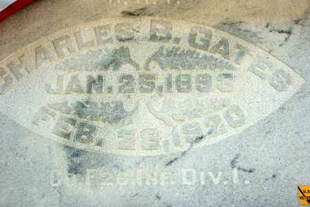 GATES, CHARLES B - Richland County, Ohio | CHARLES B GATES - Ohio Gravestone Photos