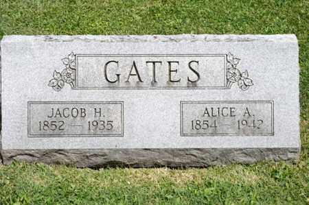 GATES, JACOB H - Richland County, Ohio | JACOB H GATES - Ohio Gravestone Photos