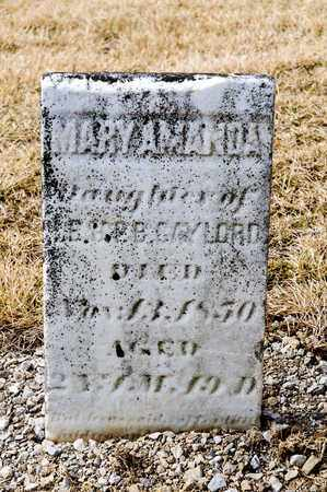 GAYLORD, MARY AMANDA - Richland County, Ohio | MARY AMANDA GAYLORD - Ohio Gravestone Photos